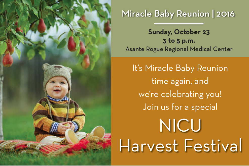 Miracle Baby Reunion - NICU Harvest Festival at Asante Rogue Regional Medical Center