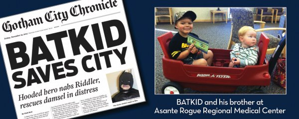 Batkid Continues to Save Lives