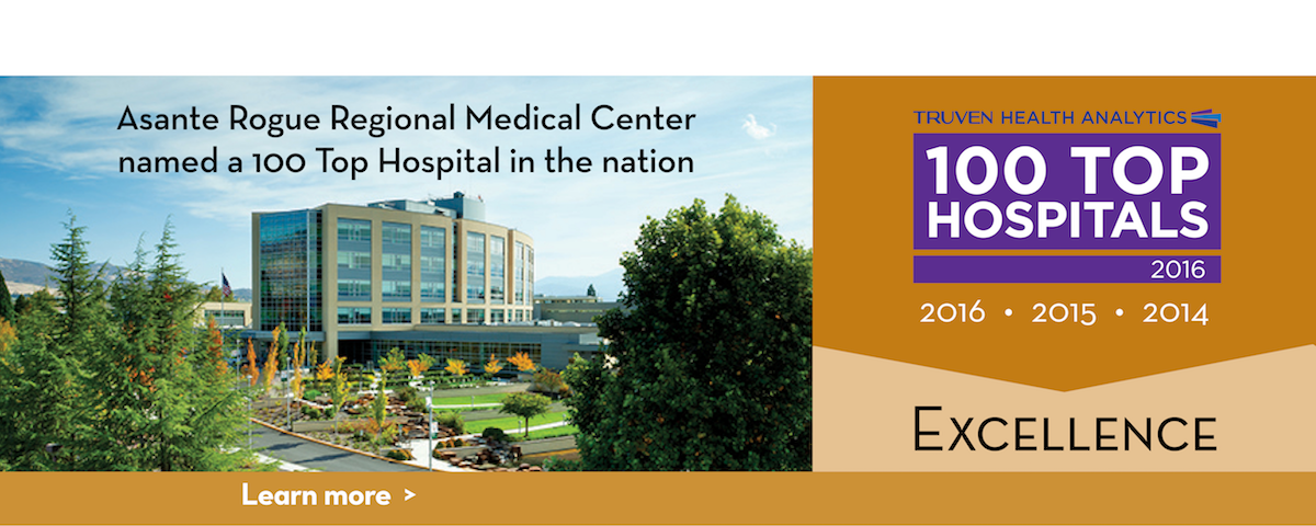 Asante Rogue Regional Medical Center is named a 100 Top hospital in the nation