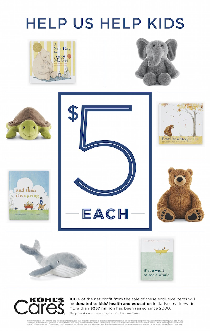 Kohl's Cares - Plush Toys and Books, support health and education initiatives for children