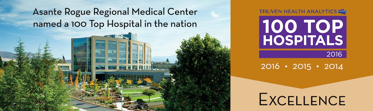 Asante Rogue Regional Medical Center named a 100 Top Hospital in the nation