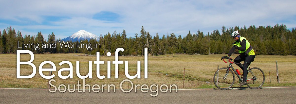 Biking in Southern Oregon - Mt. McLoughlin in the background