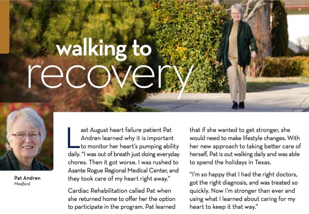 Heart Failure patient Pat Andren - Walking to Recovery