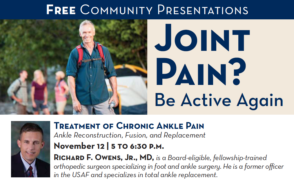 Treatment of Chronic Ankle Pain - Richard Owens, MD