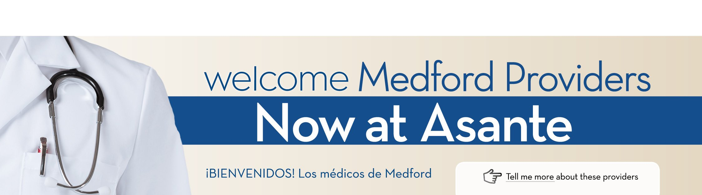Welcome New Medford Providers