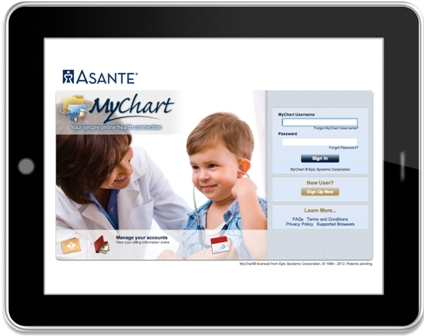 MyChart powered by Asante mobile app