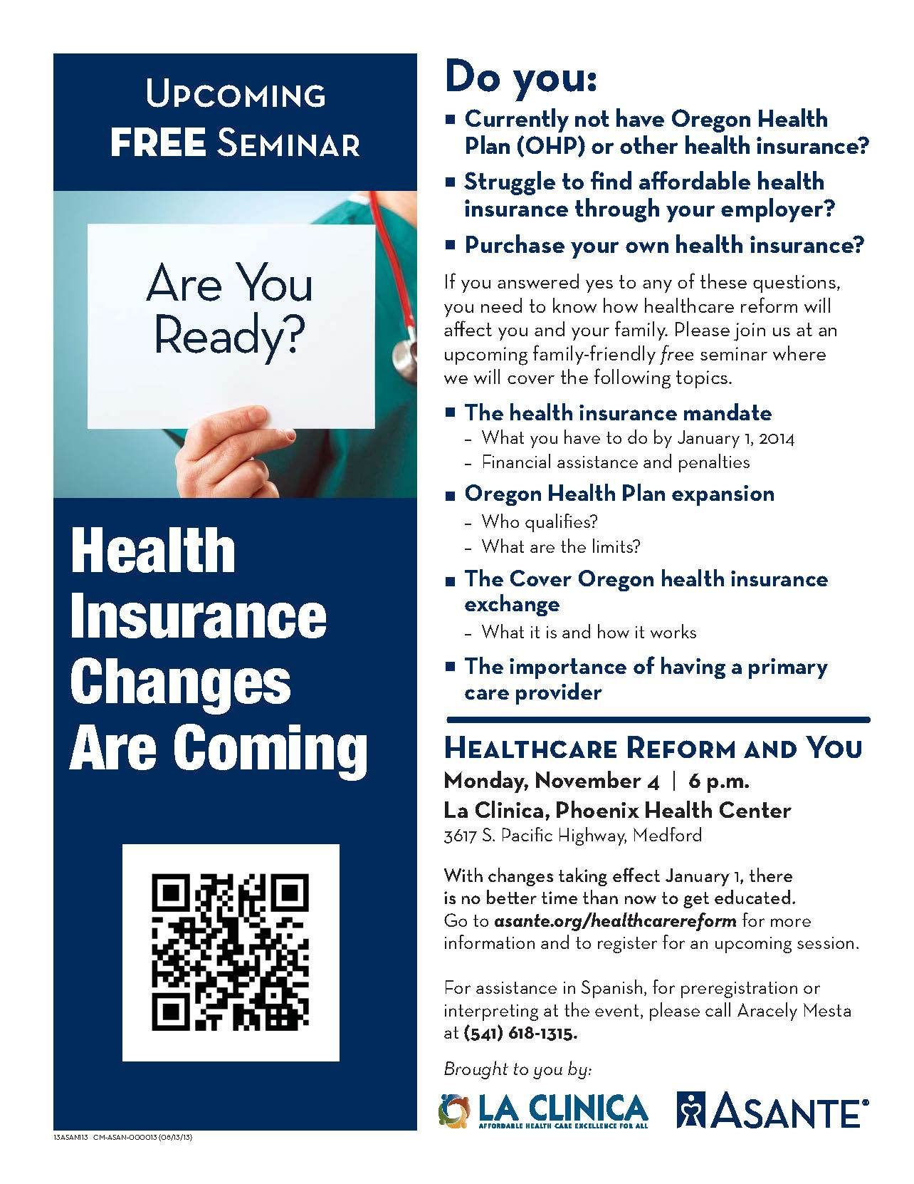 La Clinica Healthcare Reform Seminar