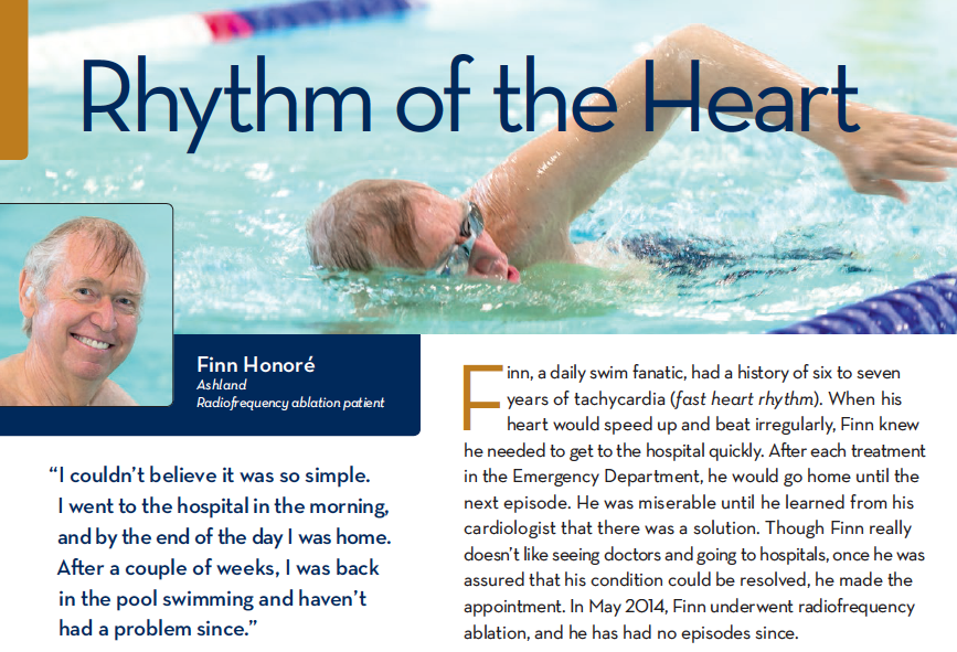 Rhythm of the Heart - Finn Honore - Ashland Radiofrequency ablation patient