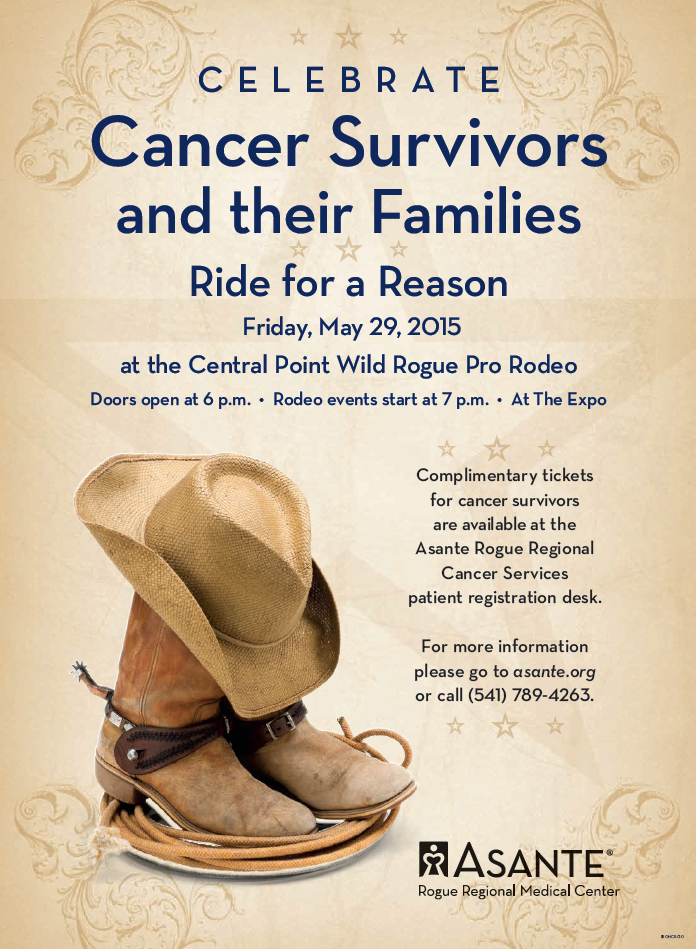 Ride for a Reason, Cancer Survivors Day at the Wild Rogue Pro Rodeo