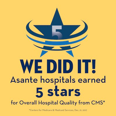 Two Asante hospitals earn 5-star ratings