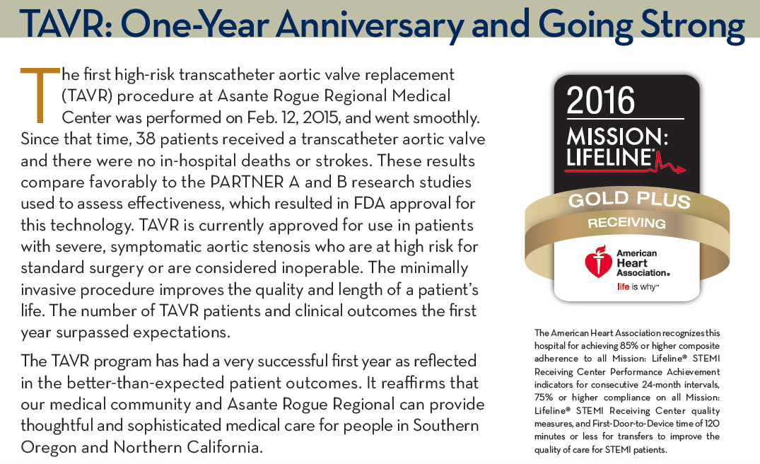 TAVR: One-year anniversary and going strong