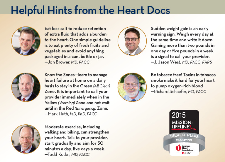 Helpful hints from the heart docs for heart failure patients