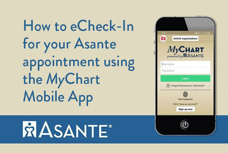 eCheck-in Instructions for Asante Appointments